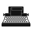 retro typewriter icon simple style vector image
