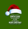 Santa Claus card vector image vector image