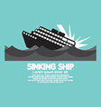 Sinking Ship Black Graphic vector image vector image