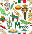 Sketch Mexico seamless pattern vector image vector image