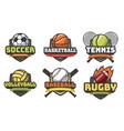 sports balls logos sport logo ball soccer vector image