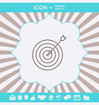 target goal line icon graphic elements for your vector image vector image