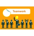 Team work in business vector image