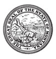 the great seal of the state of montana vintage vector image vector image