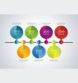 timeline infographic design for new vector image