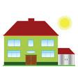 villa with sun vector image vector image