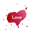 Watercolor heart card for vector image