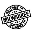 welcome to milwaukee black stamp vector image vector image