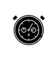 working date black icon sign on isolated vector image