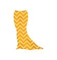 yellow long elegant skirt fashion women clothes vector image vector image