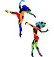 Silhouette of the dancer vector image