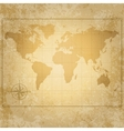 vintage world map with compass vector image