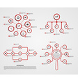 Abstract options infographics set vector image