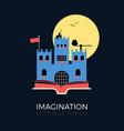 imagination fantasy castle vector image