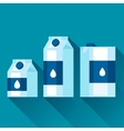with packaging of milk in flat design vector image