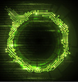 Abstract green technical background vector image