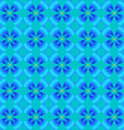 Abstract pattern of blue flowers vector image vector image