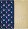 American stars old background vector image vector image
