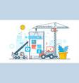 app development process construction web vector image vector image
