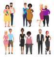 atypical weird couples set beautiful vector image vector image