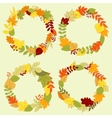 Autumn forest leaves wreaths and frames vector image vector image