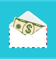 banknote in envelope vector image vector image