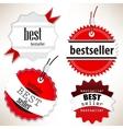 Bestseller Red labels set vector image