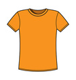 Blank yellow t-shirt template vector image vector image