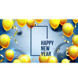 bright invite card happy new year banner vector image vector image