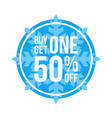 buy one get one 50 off sign circular winter sale vector image vector image