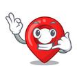 call me map marker navigation pin mascot cartoon vector image