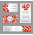 Cards with texture of pink lilies and text vector image vector image