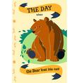 Cartoon bear flat design vector image vector image