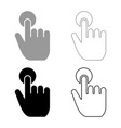 click hand touch hand finger click on screen vector image vector image