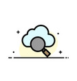 cloud search research business flat line filled vector image