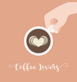 coffee lover hand lettering caligraphic vector image