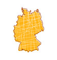 colored germany map vector image vector image