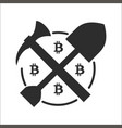 concept of miner bitcoin vector image