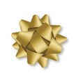 decorative golden bow isolated on white background vector image vector image