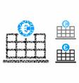 euro hotel composition icon unequal parts vector image vector image