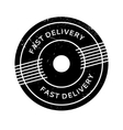 Fast Delivery rubber stamp vector image vector image