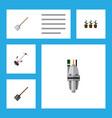 flat icon dacha set of shovel pump grass-cutter vector image vector image