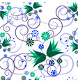 floral abstract ornament on white background vector image vector image