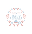 Floral Baby Shower Invitation Design Template vector image