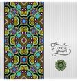 floral geometric background vintage ornamental vector image vector image
