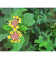flower in the form of eight on a background vector image vector image
