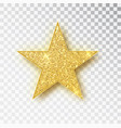 gold glitter star isolated golden sparkle vector image vector image