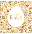 golden egg floral pattern card vector image