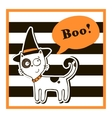 Halloween with cat vector image