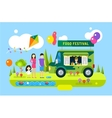 Happy family holiday or weekend summer time vector image